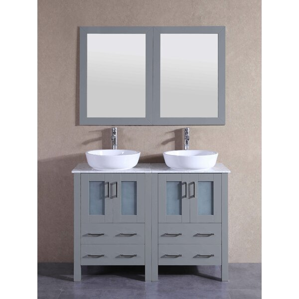 Kingston 47 Double Bathroom Vanity Set with Mirror by Bosconi