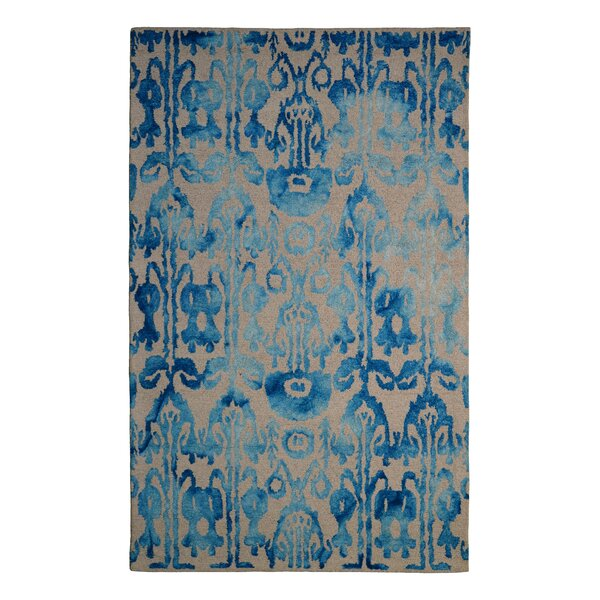 Wool Floral Hand-Tufted Ivory/Blue Area Rug by Eastern Weavers