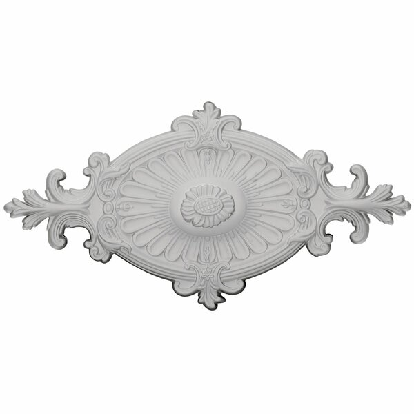 Rose and Ribbon Quentin 12.25H x 23.5W x 1.5D Ceiling Medallion by Ekena Millwork
