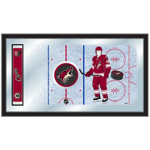 NHL Hockey Rink Mirror Framed Graphic Art by Holland Bar Stool