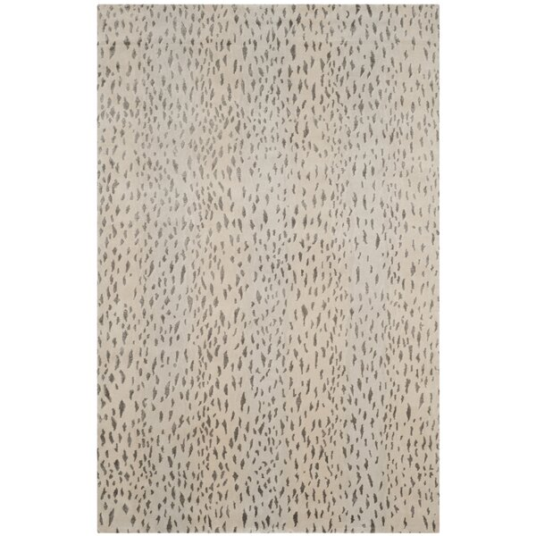 Honora Tibetan Hand Knotted Silver Area Rug by House of Hampton