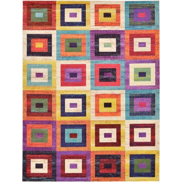 Lionel Geometric Blue/Purple Area Rug