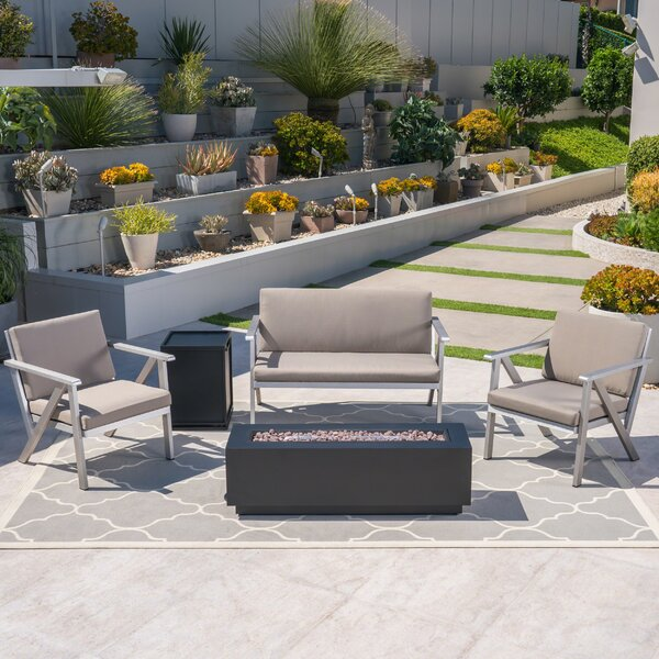 Homeland Outdoor 5 Piece Sofa Seating Group with Cushions by Ivy Bronx
