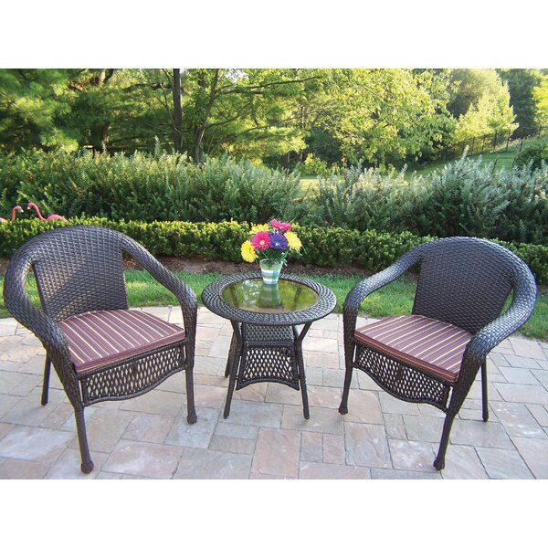 Kingsmill 3 Piece Sunbrella Conversation Set with Cushions