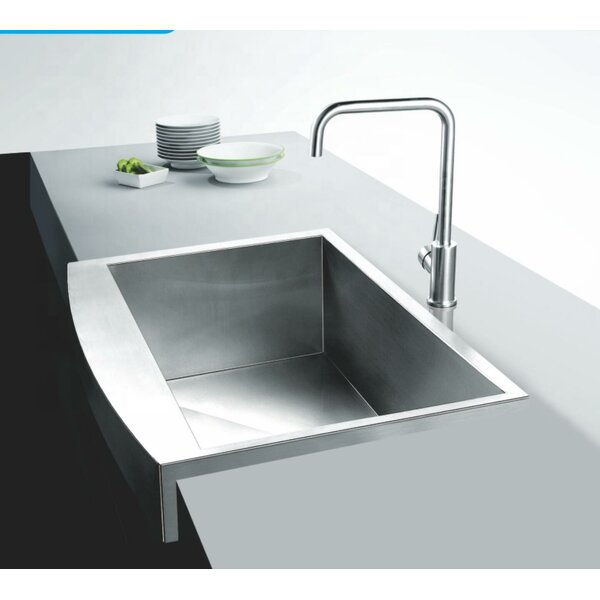 Stainless Steel Handmade 32 L x 20 W Farmhouse Kitchen Sink