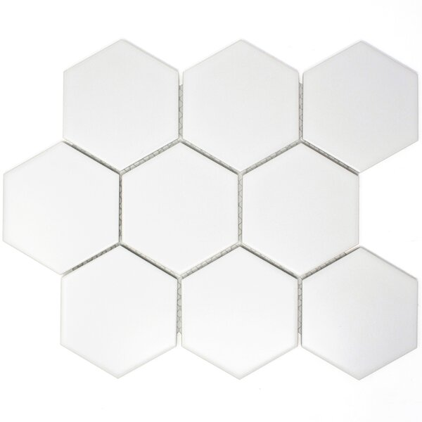 4 x 4 Porcelain Tile in White by Multile