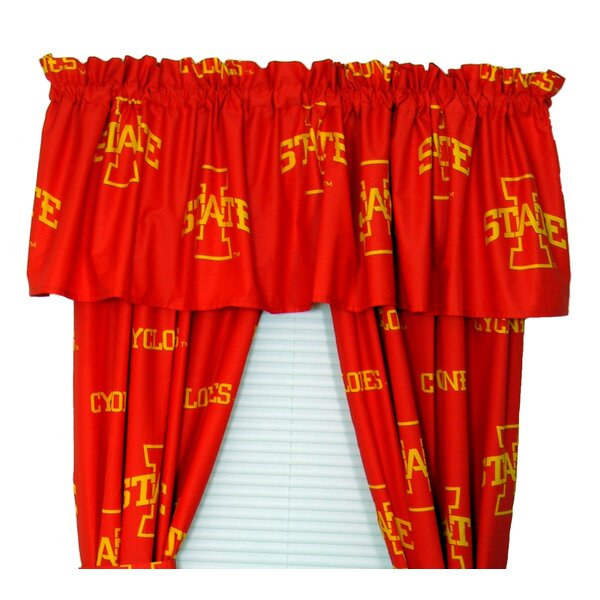 NCAA Iowa State Printed Sports Rod Pocket Curtain Panels (Set of 2) by College Covers