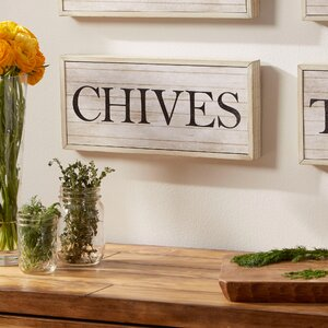 Chives Herbs Plaque by Birch Lane™