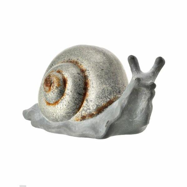 Henfield Terracotta Snail Figurine by Highland Dunes