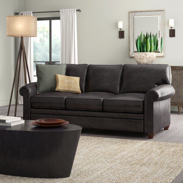 Isidro 2 Seater Leather Sofa By Greyleigh