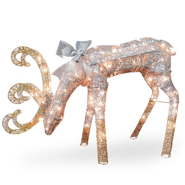 Crystal Feeding Deer Christmas Decoration by The Holiday Aisle