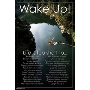 'Wake Up!!' Graphic Art Print Poster by East Urban Home
