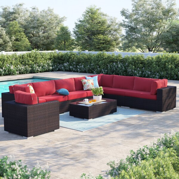 Brentwood 3 Piece Rattan Sectional Seating Group with Cushions by Sol 72 Outdoor