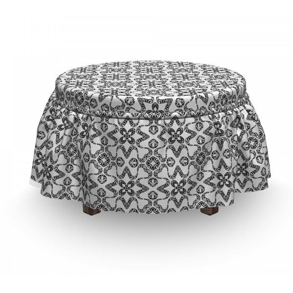 Portuguese Tile Ottoman Slipcover (Set Of 2) By East Urban Home
