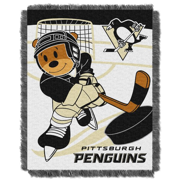 NHL Penguins Baby Woven Throw Blanket by Northwest Co.