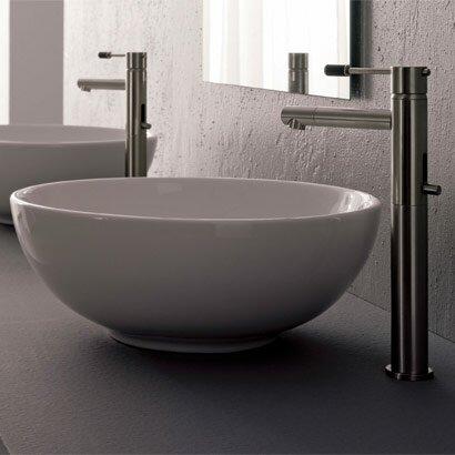 Sfera Ceramic Circular Vessel Bathroom Sink by Scarabeo by Nameeks