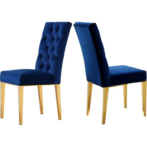 Woodland Upholstered Dining Chair (Set of 2) by Everly Quinn