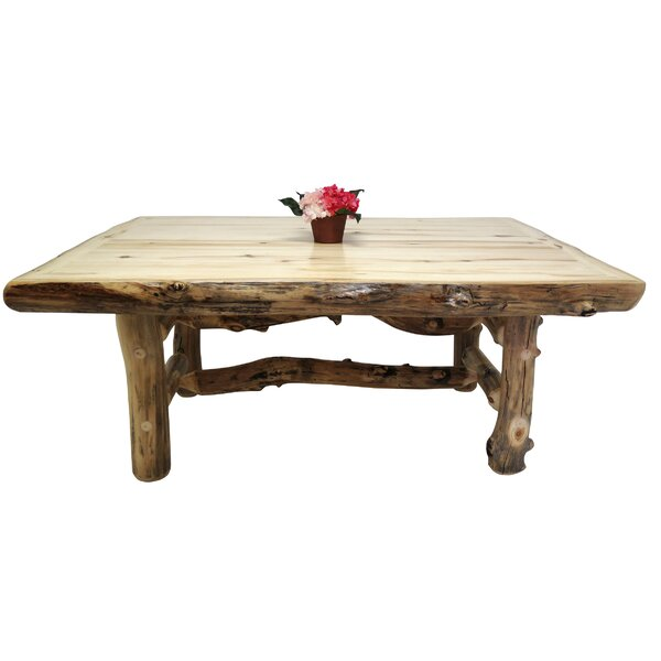 Aspen Grizzly Solid Wood Dining Table by Mountain Woods Furniture