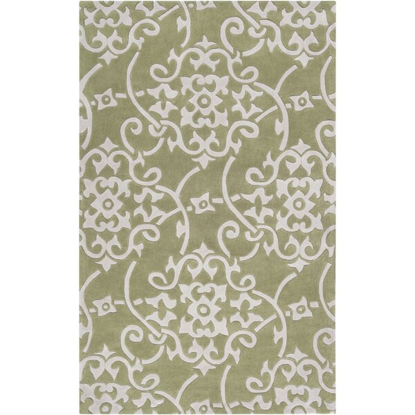 Shauna Hand-Woven Leaf Area Rug by Birch Lane™