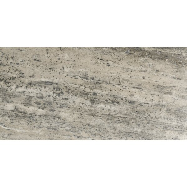 Travertine 12 x 24 Filled and Honed Field Tile in Silver Vein Cut by Emser Tile