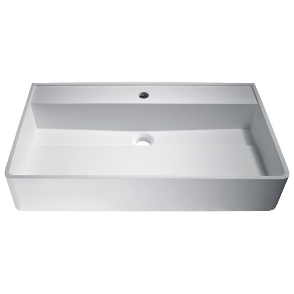 Tilia Plastic Rectangular Vessel Bathroom Sink by