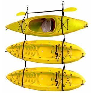 Annabella Hang 3 Deluxe Strap Storage System Wall Mounted Kayak Rack