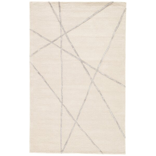 Ashton Hand-Tufted Gray/Cream Area Rug by Williston Forge
