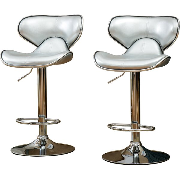 Harlow Adjustable Height Swivel bar stools (Set of 2) by Wade Logan