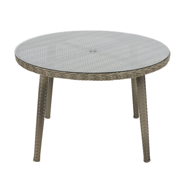 Ricardo Glass Dining Table by Mistana