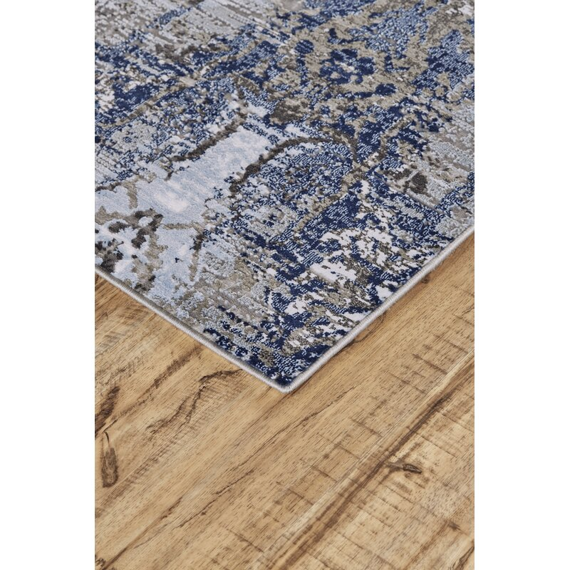 Savoy Abstract Blue Gray Area Rug