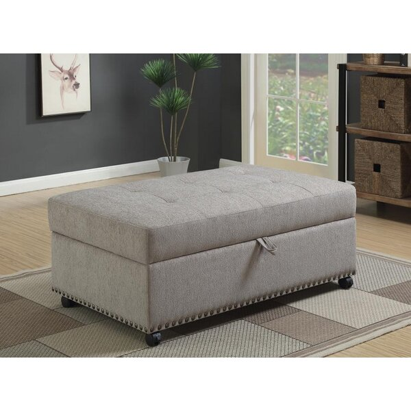 Lelia Sleeper Tufted Storage Ottoman by Canora Grey Canora Grey