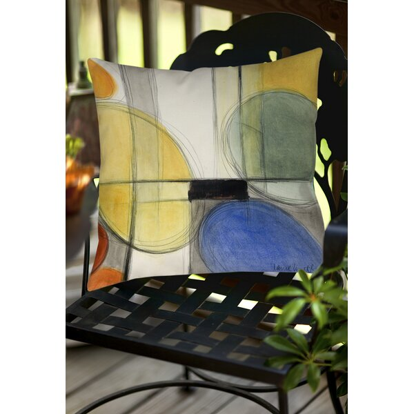 Geometric Indoor/Outdoor Throw Pillow by East Urban Home