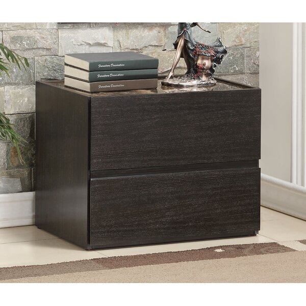 Haleema 2 Drawer Nightstand by Ebern Designs