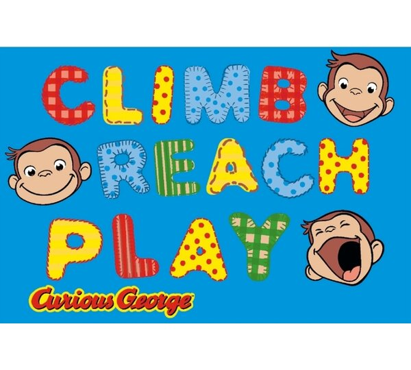 Curious George Climb, Reach, Play Kids Rug by Fun Rugs