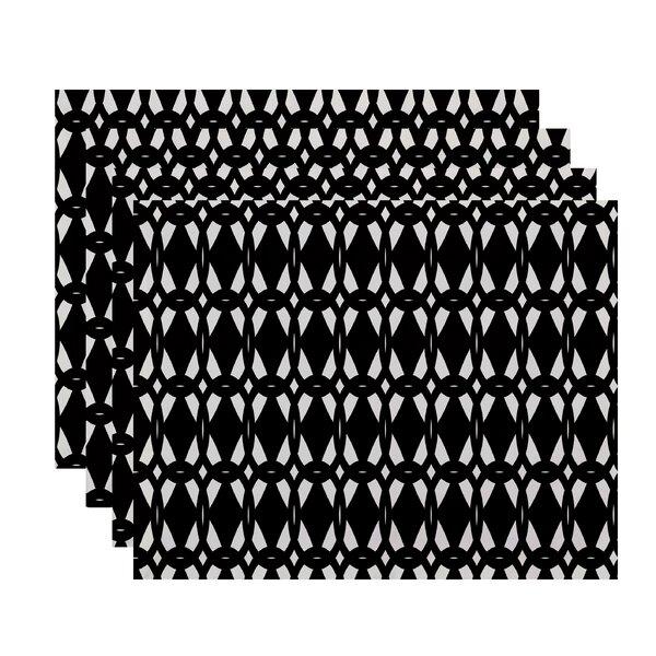 Boyce Geo-Craze Geometric Print Placemat by Mercury Row