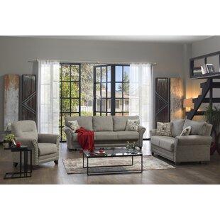 Alecander 3 Piece Sleeper Living Room Set by Red Barrel Studio®