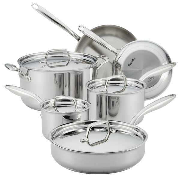 Thermal Pro™ 10 Piece Stainless Steel Cookware Set by Breville
