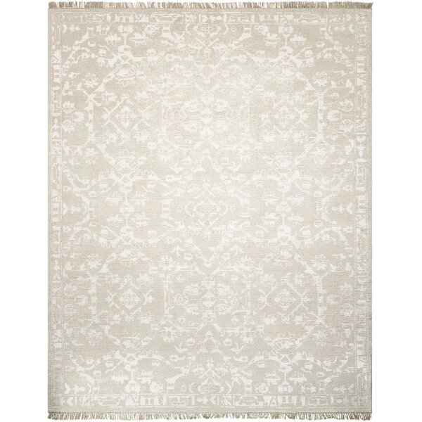 Haddou Hand-Knotted Light Gray Area Rug by Bungalow Rose