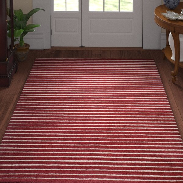Grayville Hand Woven Wool Red Area Rug by Three Posts