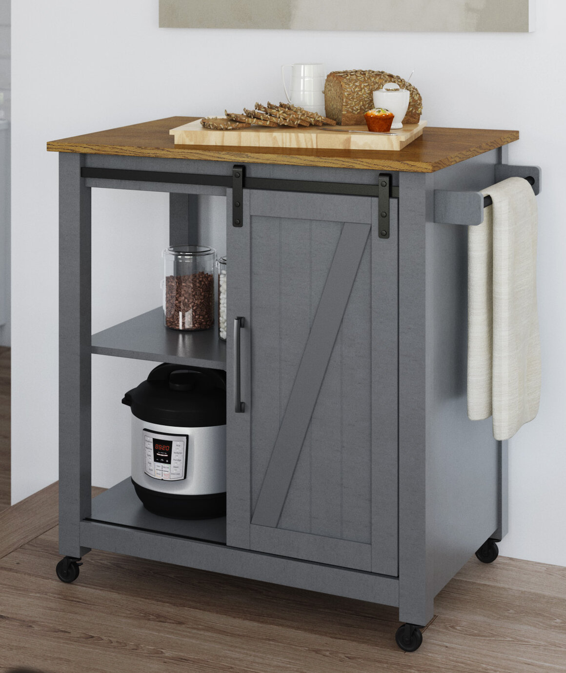 Gracie Oaks Dionisio Rolling Kitchen