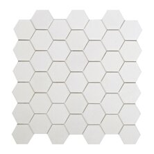 Thassos Hexagon 2 x 2 Marble Mosaic Tile in White by Seven Seas