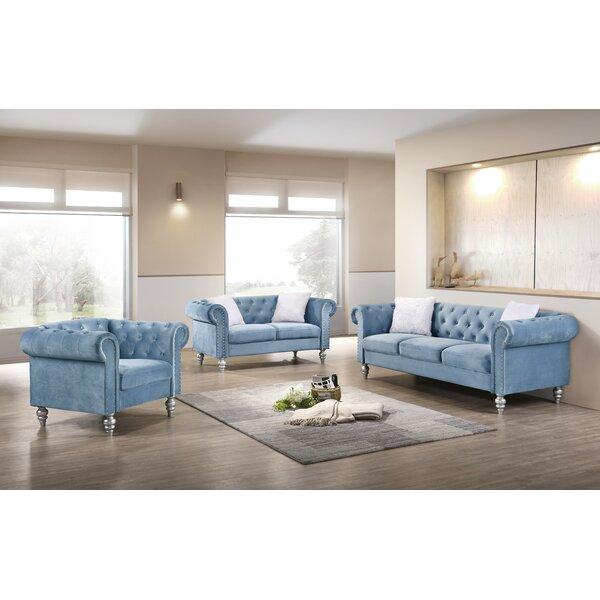 Purchase Adamo 3 Piece Living Room Set by Rosdorf Park