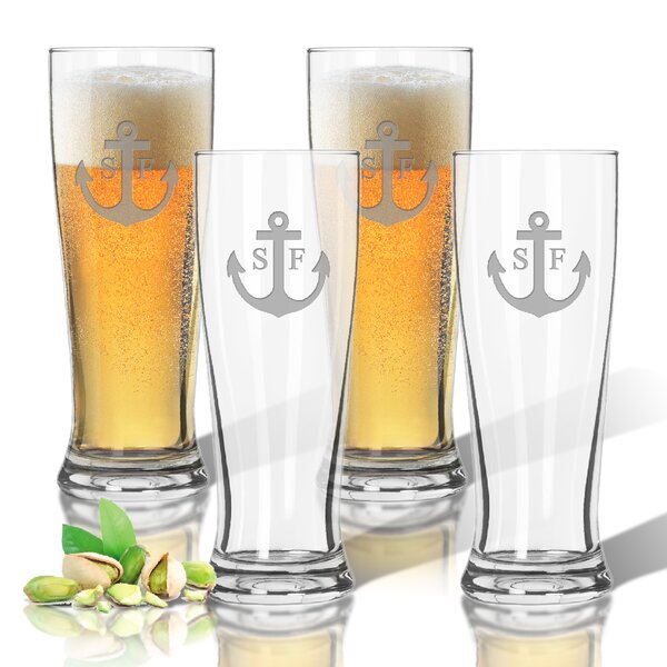 Personalized Tritan 14 oz. Pilsner Glass (Set of 4