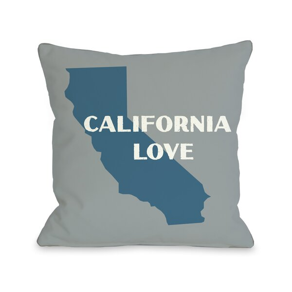 California Love Throw Pillow by One Bella Casa