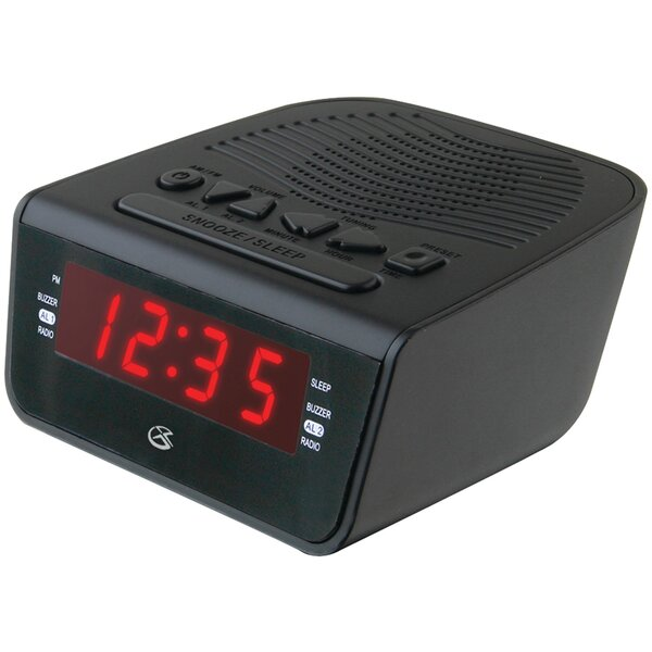 LED Am/Fm Alarm Tabletop Clock by Symple Stuff