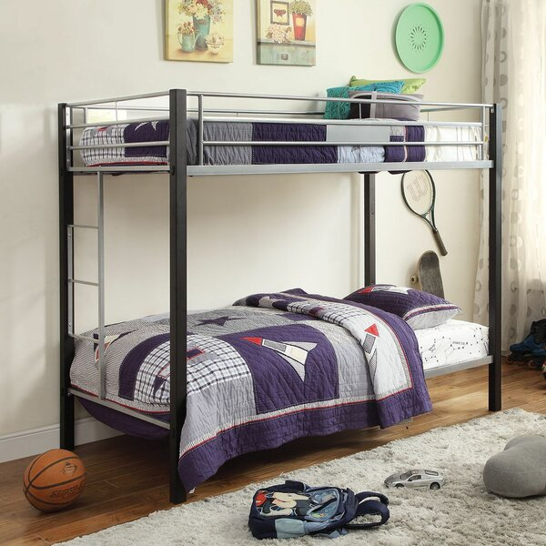 Lenita Twin Over Twin Bunk Bed by Harriet Bee