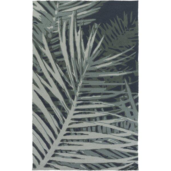 Acosta Hand-Tufted Slate/Navy Indoor/Outdoor Area Rug by Bay Isle Home