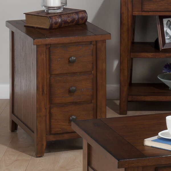 Yemina End Table With Storage by Three Posts