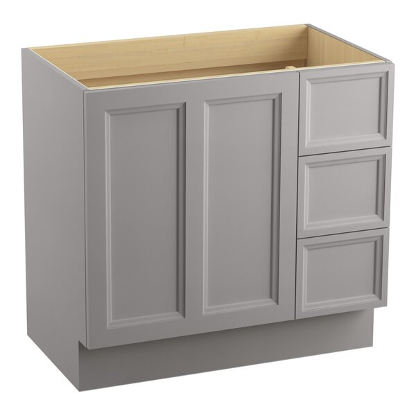 Damask™ 36 Vanity with Toe Kick, 1 Door and 3 Drawers on Right by Kohler