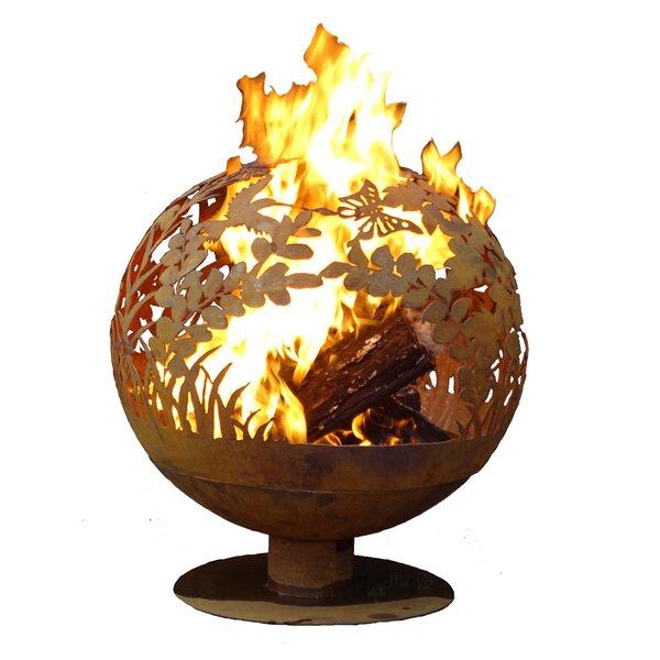 Garden Fire Globe Steel Wood Burning Fire Pit by EsschertDesign